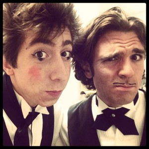 Two handsome waiters - Thom Wall & Benjamin Domask
