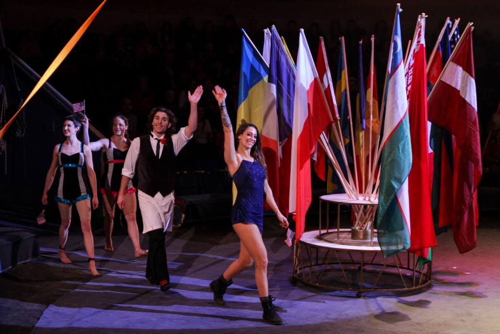 Four american circus performers compete in Riga, Latvia
