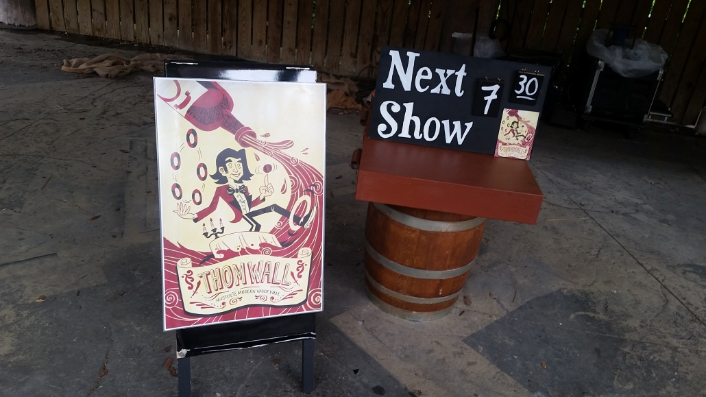 Next show signs - wine show - wine festival entertainment